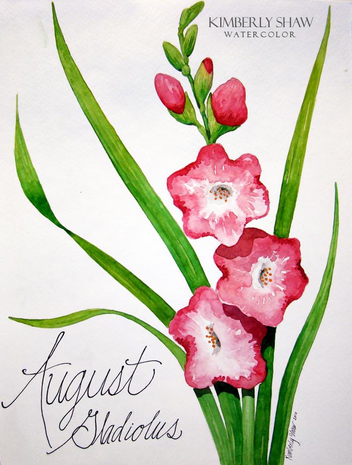 Aug Glads Gladiolus are August's birth flower.