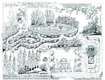 Tea party maze game