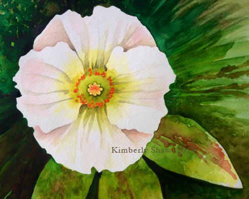 White flower watermarked