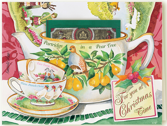 Greetings om kimberly shaw greeting cards 354shadox my twelve days of christmas teacup greeting card m4hsunfo