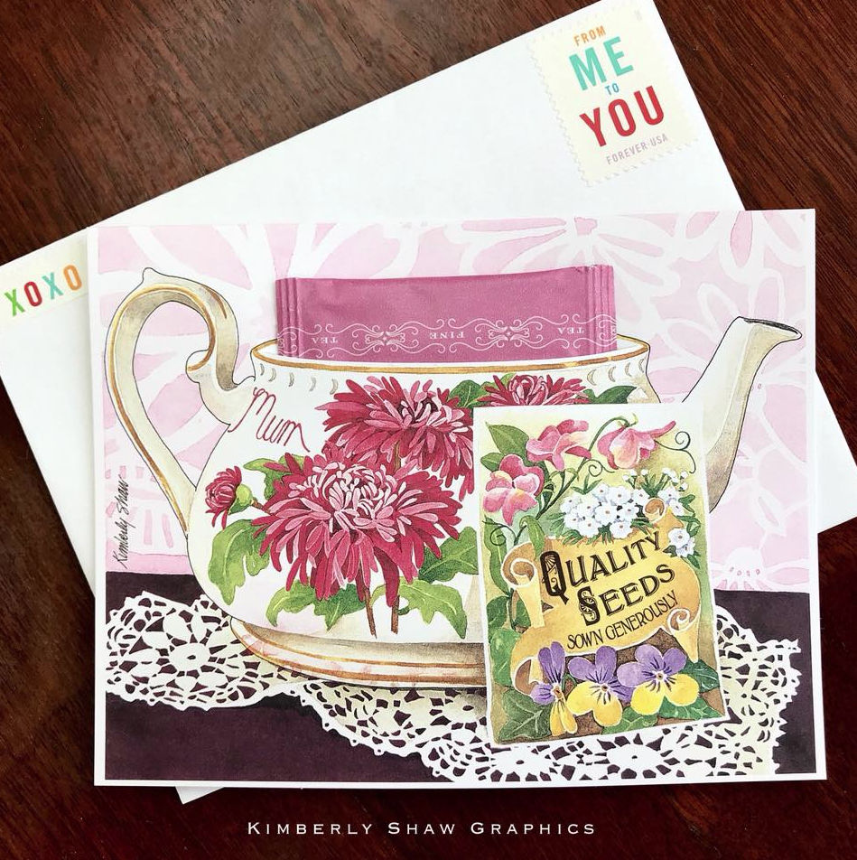 Greetings om kimberly shaw mum teacup greeting card kristyandbryce Images